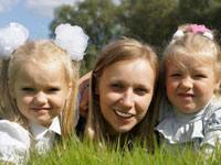 беженка из Украины с двумя детьми